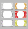 Abstract card background template set with