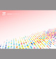 abstract colorful halftone texture dots pattern vector image vector image