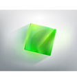 abstraction with a green glass cube vector image