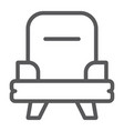 armchair line icon furniture and home chair sign vector image vector image