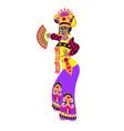 bali dancer in flat style woman performing sekar vector image