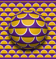 ball rolling along surface optical vector image