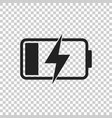 battery charge level indicator on isolated vector image