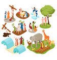 bible narratives isometric set vector image vector image