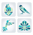 Birds mosaic icons vector image vector image