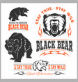 black bear for logo sport team emblem design vector image vector image