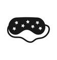 black eye sleep mask with stars isolated on white
