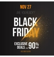 Black Friday Sale Exlosion Poster Template vector image vector image