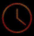 bright pixel clock icon vector image vector image