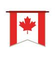 canadian cartoon flat vector image vector image