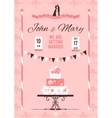 Card with wedding cake vector image vector image