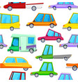 cartoon cars children seamless pattern vector image vector image