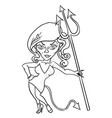 cartoon image of devil girl vector image vector image