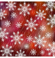 christmas background white snowflakes on red vector image