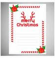 christmas invitation envelope with frame vector image