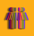 colorful paper art of people 3d paper people vector image vector image