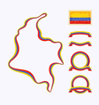 colors colombia vector image