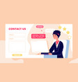 contact us web form computer support service vector image vector image
