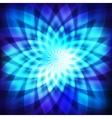 Cosmic blue flower vector image