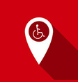 disabled handicap in map pointer invalid icon vector image vector image