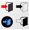 exit door eps icon with contour version vector image