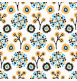 fall flowers seamless pattern hand drawn vector image vector image