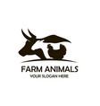 farm animals label vector image vector image
