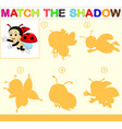find the correct shadow of the ladybug vector image vector image
