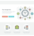 Flat line Social Time Management Concept vector image vector image