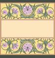 floral frame template art-nouveau style vector image