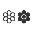 flower icon images vector image