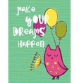 Funny hand drawn card vector image vector image