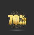 gold glitter numbers seventy percent discount vector image vector image