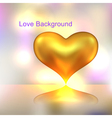 Golden heart background vector image