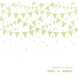 green textile party bunting horizontal frame vector image vector image