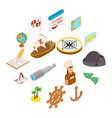 happy columbus day icons vector image