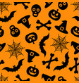 happy halloween seamless pattern for vector image vector image
