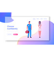 hospital or clinic workers website landing page vector image