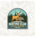 hunting club badge concept for shirt vector image vector image