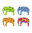 indian elephant with a pattern of berries vector image