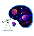 isometric astronomical observatory dome vector image vector image