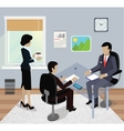 Isometric Business Meeting in Office Flat Design vector image