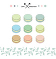 macaroon sweet set vector image
