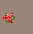merry christmas card with elfs people ornament and vector image vector image