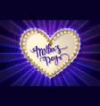 mothers day typographic card blue version vector image vector image