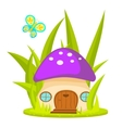 Mushroom house cartoon vector image vector image