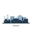 odense skyline monochrome silhouette vector image vector image