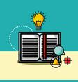 open book bulb light idea creativity vector image