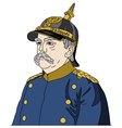 Otto von Bismarck the Iron Chancellor vector image vector image