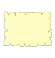Parchment old paper Empty cartoon banner yellow vector image vector image